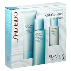 Shiseido Pureness Oil-Control 1-2-3 Skincare Kit 1box by Shiseido. $50.00. Shiseido Pureness Oil-Control 1-2-3 Skincare Kit includes:Pureness Deep Cleansing Foam 75mlPureness Balancing Softener Alcohol-Free 100mlPureness Matifying Moisturizer Oil-Free 30ml