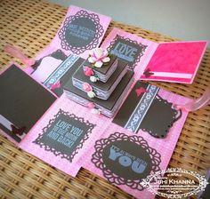 Juhi's Handmade Cards: DIY Exploding Box Tutorial and a Workshop Alert