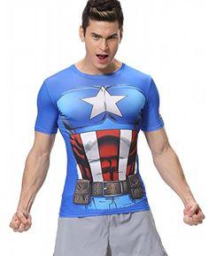Cody Lundin® Camisa de compresión Super Heroes Serie Ironman&Hulk&Captain América&Thor camiseta de los vengadores camisetas de manga corta de Cosplay Ejecución de las tapas de ejercicio #regalo #arte #geek #camiseta