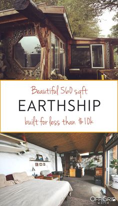 Tiny House Cabin, Tiny House Design, Earthship Design, Earthship Home Plans, Off Grid House, Off The Grid Homes, Earth Bag Homes, Eco Architecture, Contemporary Architecture