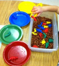 Sorting Colors with a Fine Motor Twist
