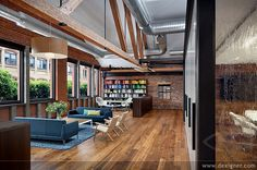 Very nice corporate office! It looks like a very comfortable work environment.
