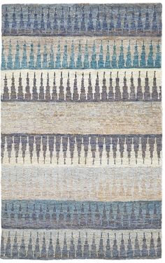 Blues and purples jump through jute in the bold contemporary patterns of the Neela Collection. This line strikingly mixes subtle gradations of lilac and blue to create a casual contemporary look with a rustic edge you can only get from natural jute. Jute Rug, Woven Rug, Modern Bohemian, Bohemian Rug, Cheap Carpet Runners, Beige Carpet, Round Rugs, Beige Area Rugs, Hand Weaving