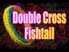 How to make a Rainbow Loom Double Cross Fishtail Bracelet HD