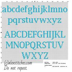 Cross stitch alphabet uppercas