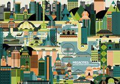 Global city illustration