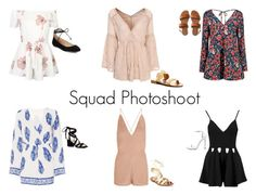 """""""Squad Photoshoot"""" by harrysdimplebaby ❤ liked on Polyvore featuring WithChic, Boohoo, Dorothy Perkins, Valentino, Karl Lagerfeld, Kate Spade, Aéropostale, Jack Rogers, Kenneth Cole and Stuart Weitzman"""