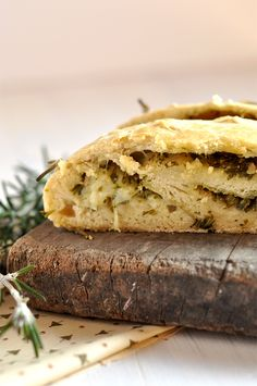 Bread Stuffed with Pesto and Mozarella