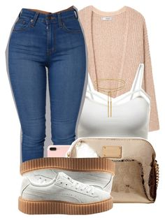 """"""" I know we're not too far away """" by mindlesspolyvore ❤ liked on Polyvore featuring MANGO, WithChic, Michael Kors and Puma"""