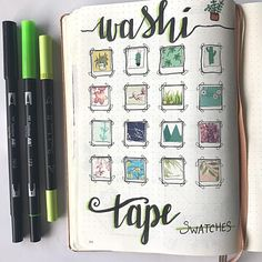 Washi tape has become one of the most popular bullet journal supplies. The fact that there are so many different looking washi tapes to collect, and that they have other uses outside of bullet journaling, . Bullet Journal Washi Tape, Bullet Journal Planner, Bullet Journal Spread, Bullet Journal Layout, Bullet Journal Inspiration, Bullet Journel, Do It Yourself Inspiration, Journal Pages, Journal Ideas