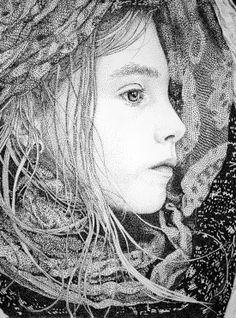 Spanish visual artist, Pablo Jurado Ruiz, I just couldn't believe I was looking at illustrations consisting of thousands of black marker dots...