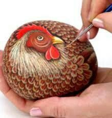 Painted Rocks – More than 300 Picture Ideas – Arts And Crafts – All DIY Projects : Painted Rocks – More than 300 Picture Ideas – Arts And Crafts – All DIY Projects Pebble Painting, Pebble Art, Stone Painting, Stone Crafts, Rock Crafts, Arts And Crafts, Chicken Crafts, Chicken Art, Happy Halloween Pictures