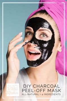 Get rid of blackheads + impurities with this all-natural, homemade DIY charcoal peel-off mask made with juts 4 ingredients.  via @dontmesswithmom #CleansingMask Foundation For Oily Skin, Mask For Oily Skin, Face Mask For Blackheads, Skin Mask, Face Skin, Charcoal Mask Benefits, Charcoal Peel Off Mask, Charcoal Face Mask, Face Scrub Homemade