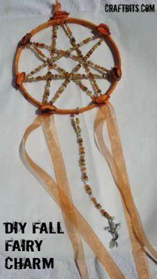 DIY Fall Fairy Charm — craftbits.com #craft