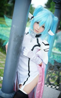 Character: Nymph Anime/Manga: Sora no Otoshimono CN: Misa World Cosplay