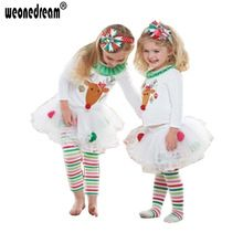 2016 Girls Clothing Sets Toddler Girl Clothing Christmas Long Sleeve children dress Clothes Children Clothing Free Shipping(China (Mainland))