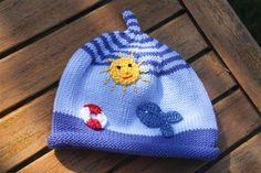 Mützen - Kleiner Fisch im Meer, Mütze für Kinder + Babys - ein Designerstück von -Wimmelkinder- bei DaWanda