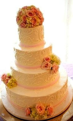 scrollwork cake