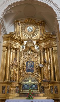 TRNAVA, SLOVAKIA - The side baroque altar in Jesuits church from 18. cent. Image of holy, trnava, altar -