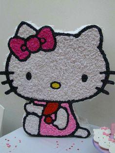 Hello Kitty Pinata, Hello Kitty Birthday, Fun Crafts For Kids, Make Your Own, Party Themes, Birthdays, Birthday Parties, Diy, Creativity