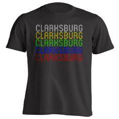 Retro Hometown - Clarksburg, MA 01247 - Black - Small - Vintage - Unisex - T-Shirt