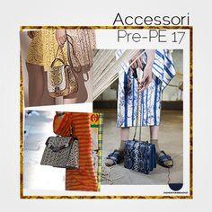 Le Pre-collezioni P/E 17 hanno visto sfilare #accessori di ogni tipologia. Trionfano tracolle e borse a mano rivestite di pellami pitonati dai toni pastellati. Scopri di più su www.fashionforbreakfast.it :)