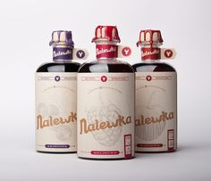 Nalewka is a traditional Polish spirit made from macerated fruits, roots,  herbs and spices. Intended as a gift for friends and customers, the  beverage is almost entirely made by hand and packaged by Foxtrot Studio.