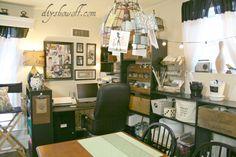 Vintage inspired Craft Room @ diyshowoff.com ~ Inspiration