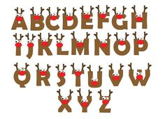 Kids Personalized Christmas Reindeer Letter by PolkaBean on Etsy, $10.00