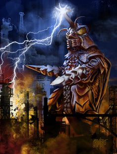 Megalon is the god to the Seatopians, and he was their way to take revenge on the humans who were damaging their world with nuclear tests. They called upon Megalon to destroy the humans and sent the captured Jet Jaguar to guide the monster on his rampage through Japan.