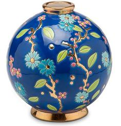 """FRENCH LONGWY/""""Fleur bleue""""designed by Therese d'Encausse for Emaux de Longwy. Made in France. emauxdelongwy.com"""