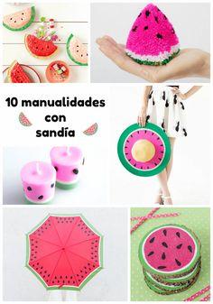 ¡La fruta protagonista del verano! Y además de enamorarnos de sus colores maravillosos y su sabor... ¡es perfecta para hacer manualidades! ¡10 ideas imperdibles!