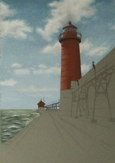 pastel tutorial - how to draw with pastels - lighthouse