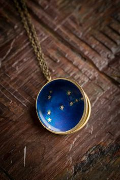 NEW: Constellation Lockets. #Necklace available in all 12 zodiac signs & corresponding constellations. Made in North Carolina.  bourbonandBoots.com