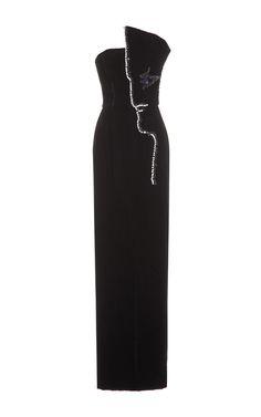 Embellished Cocteau Column Dress by DJABA DIASSAMIDZE for Preorder on Moda Operandi