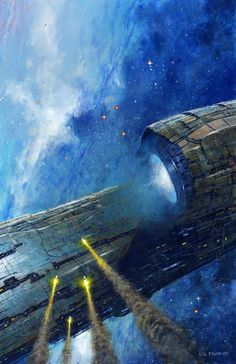 Chasing the Lightship by Les Edwards / http://www.lesedwards.com/galleries/science-fiction/chasing-the-lightship/16847