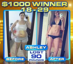 """:::September Winner::: Ashley T. lost 90 lbs & won a thousand dollars in The Beachbody Challenge! """"I was tired of being 'THE FAT GIRL.' ...My beachbody coach told me about #INSANITY and said I should try it cause it was only 60 days long and that Shaun T is amazing at keeping people motivated ...I started out weighing 220lbs (im 5'8) i was wearing a size 17 jeans! Now almost 9 months later I am 130 lbs, and im wearing a size 3. I have abs & my Legs are so toned its INSANE!!!"""""""