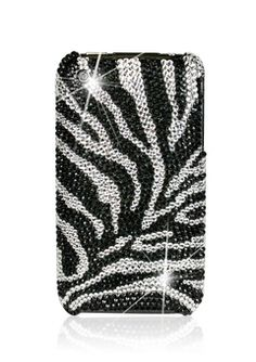 zebra print swarvoski crystal iphone cover.. if only, if only..