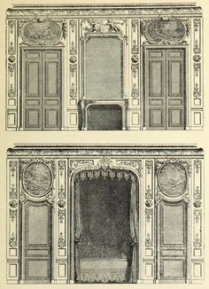 Elevations for a bedroom, France