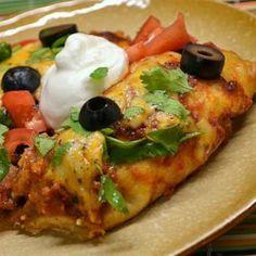 Beef Enchiladas with Spicy Red Sauce - Allrecipes.com