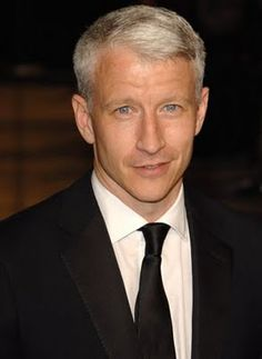 Anderson Cooper, another guy who went gray young. Love his hair.