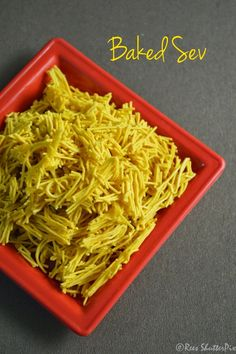 Baked Sev Recipe | Low Calorie Snacks Savory Snacks, Savoury Dishes, Snack Recipes, Indian Snacks, Indian Food Recipes, Diwali Snacks, Tea Time Snacks, Low Calorie Snacks, Microwave