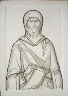 Greek Icons, Byzantine Icons, Archangel Michael, Art Icon, Orthodox Icons, Renaissance Art, Christian Art, Religious Art, Line Drawing