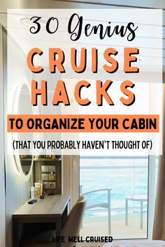 These cruise cabin organization tips and hacks are game changing! Make more space in your stateroom with these practical tips and tricks! #cruisehacks #cruisetips #cruising #cruisecabinorganization