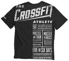 Love the unique imprinting on this t-shirt!  Crossfit by Russell Pritchard, via Behance