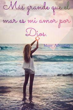 Mas grande que el mar, es mi amor por Dios #Enamorada #PLaya #Cristo Bigger than the sea, it is my love for God