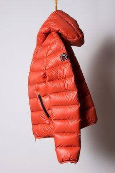 piumino orange, light down jacket Goose Feel