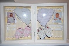Newborn/baby keepsake shadow box