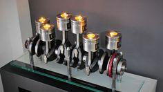 Fernando Guerra Studio - Candelabro motor BMW. Creado a partir de cigüeñal, bielas y pistones que pertenecen al motor M57 de BMW.