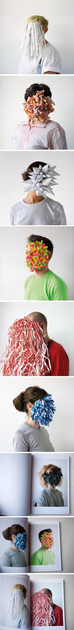 Visages en papier pour une campagne de pub Cette série de créations en papier a été réalisée par le designer graphique basé à Barcelone, Héctor Sos en coll